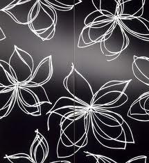 ...White Flower, Modern Bathroom, Black And White, Bathroom Wall, Black White, Bathroom Ideas, Bedrooms Wall, White Wall, Flower Pattern