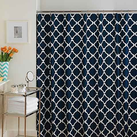 Product image for Jill Rosenwald Hampton Links Shower Curtain in Navy/White - Best 25+ Navy Blue Shower Curtain Ideas On Pinterest Nautical