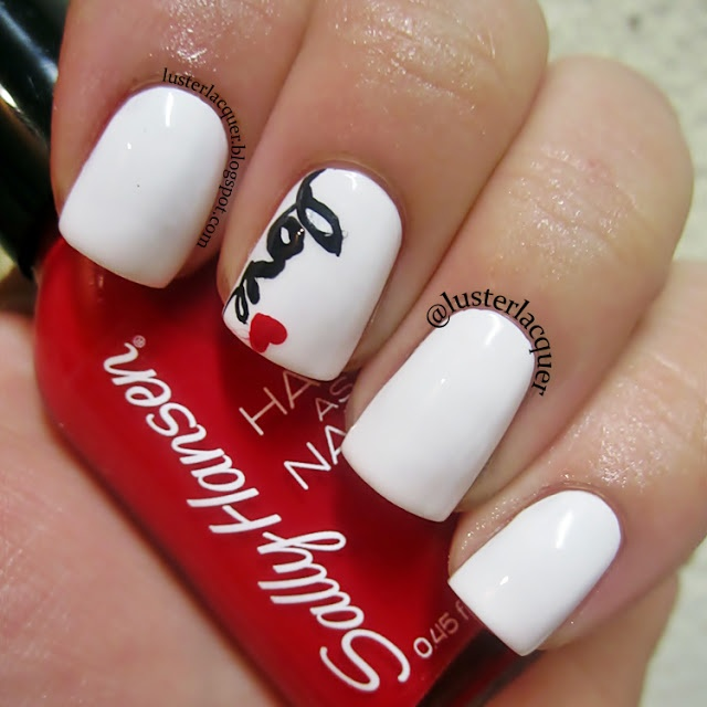 Valentines nails but I hate Valentine's day