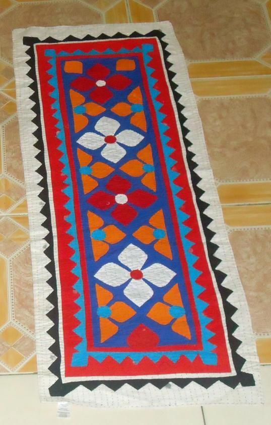Handmade Ralli Quilt Table Runner - Little Garden_#Globein