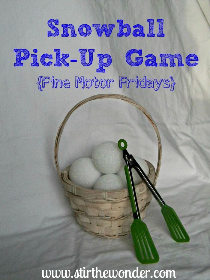 Snowball Pick-Up & Transfer Game - A fun way to practice fine motor skills! | Stir The Wonder