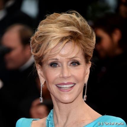 Jane Fondas Glamour Make-up von Cannes #RedCarpet #Makeup