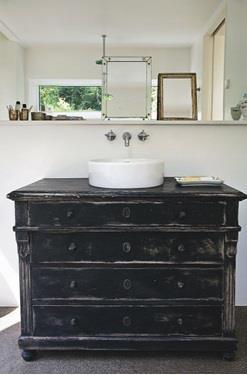 mueble antiguo como lavabo