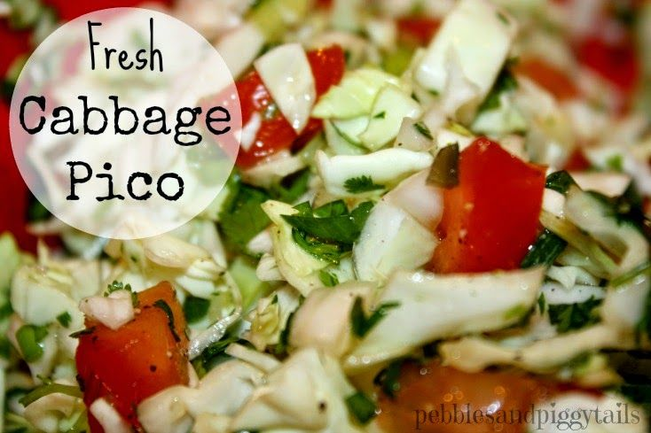 Pebbles and Piggytails: Fresh Cabbage Pico De Gallo Recipe.  Great with tacos.