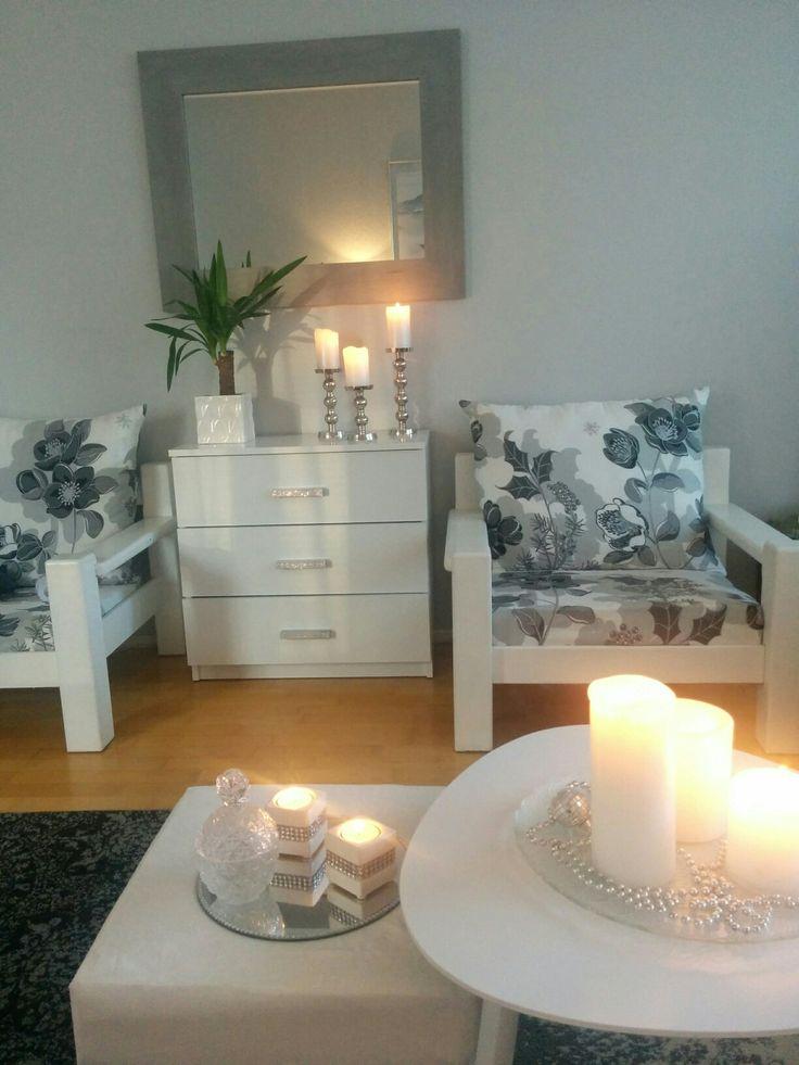 Candel light, livingroom. My home:)