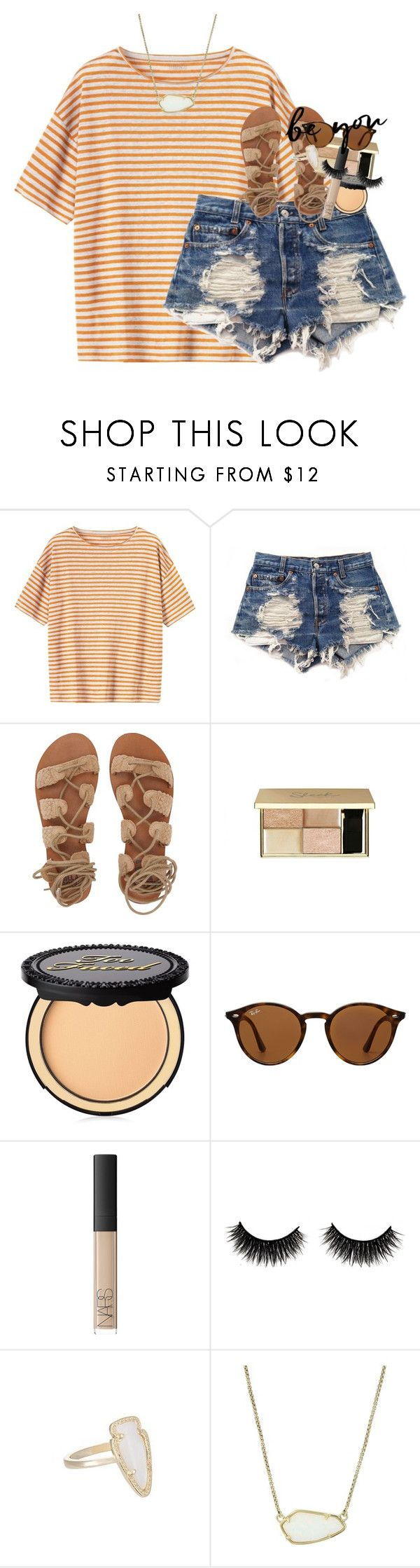 """""""boys seem to like the girls who like to kiss and tell"""" by classynsouthern ❤ liked on Polyvore featuring Toast, Levi's, Billabong, Too Faced Cosmetics, Ray-Ban, NARS Cosmetics and Kendra Scott"""