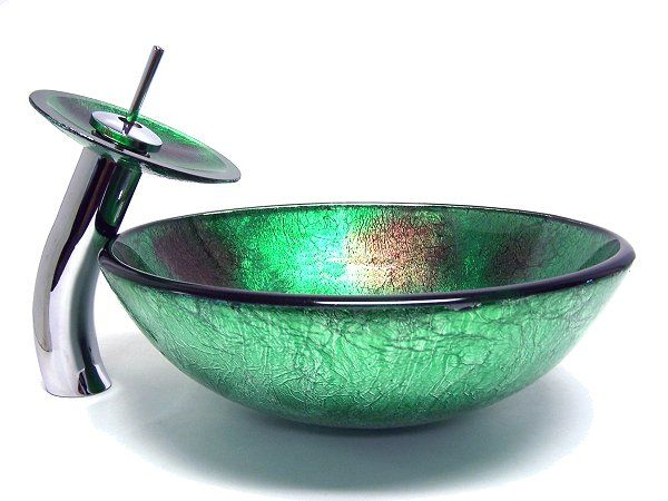 25 best ideas about glass vessel on pinterest gift sets - Green glass vessel bathroom sinks ...
