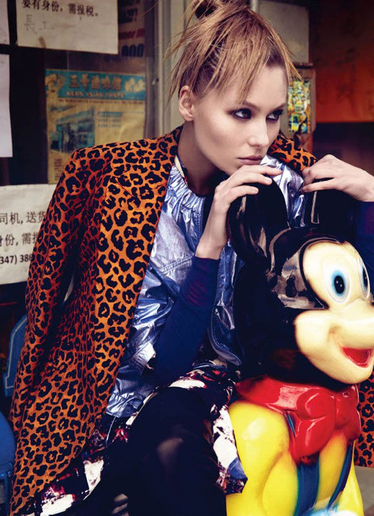 Vika Falileeva by David Roemer for Marie Claire