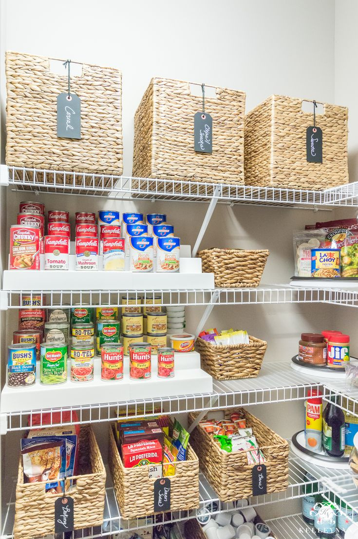 Organized Pantry Ideas With Can Risers Organization Pantryorganization Smallpantry