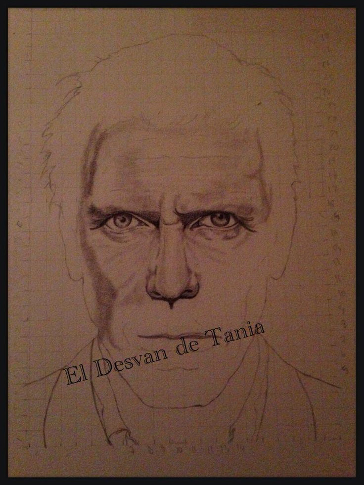 Paso 4 Hugh Laurie a lápiz! Eldesvandetania.blogspot.com Facebook: el desvan de Tania  Twitter @El Desván De Tania