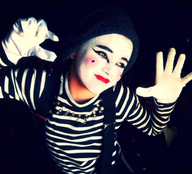 Mime makeup | Ideas | Pinterest | Mime makeup and Halloween costumes