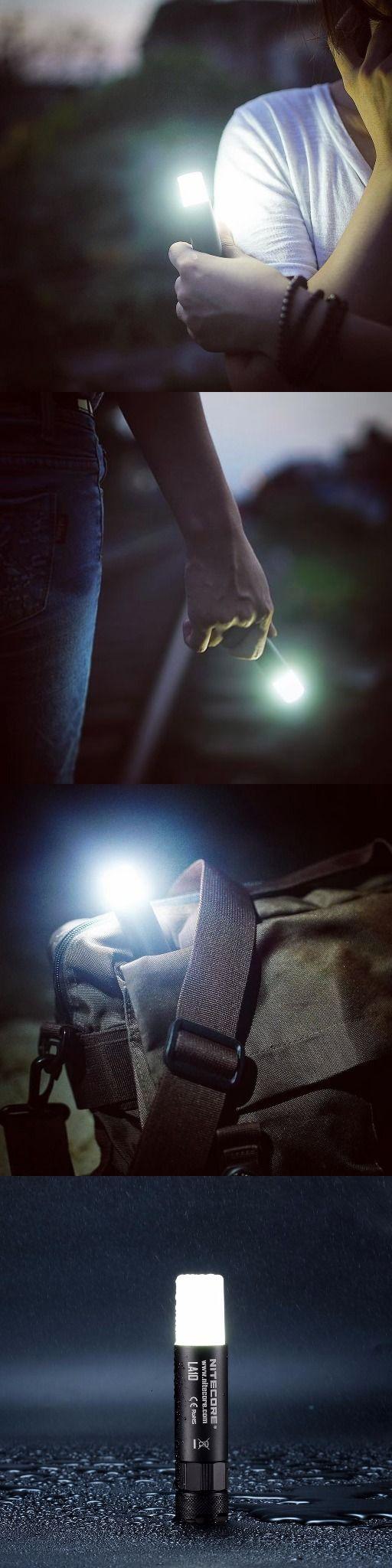 Nitecore LA10 135 Lumen Mini LED Camping Lantern Flashlight- Compact Lightweight including AA Battery and LumenTac Battery Organizer - Everyday Carry Gear