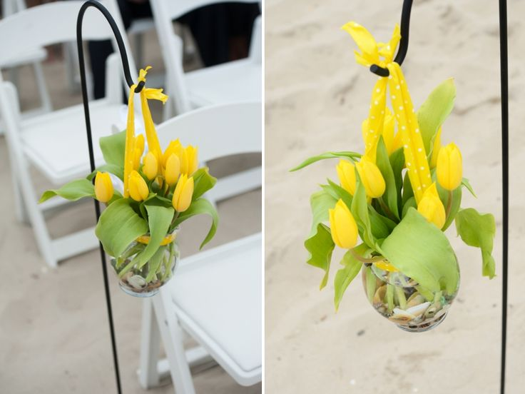 Yellow & Navy New Jersey Beach Wedding - Every Last Detail