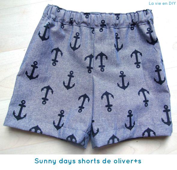 Tutorial costura fácil: shorts para niño (patrón gratuito de Oliver+S) | La vie en DIY http://www.lavieendiy.com/2014/07/tutorial-costura-facil-shorts-para-nino.html