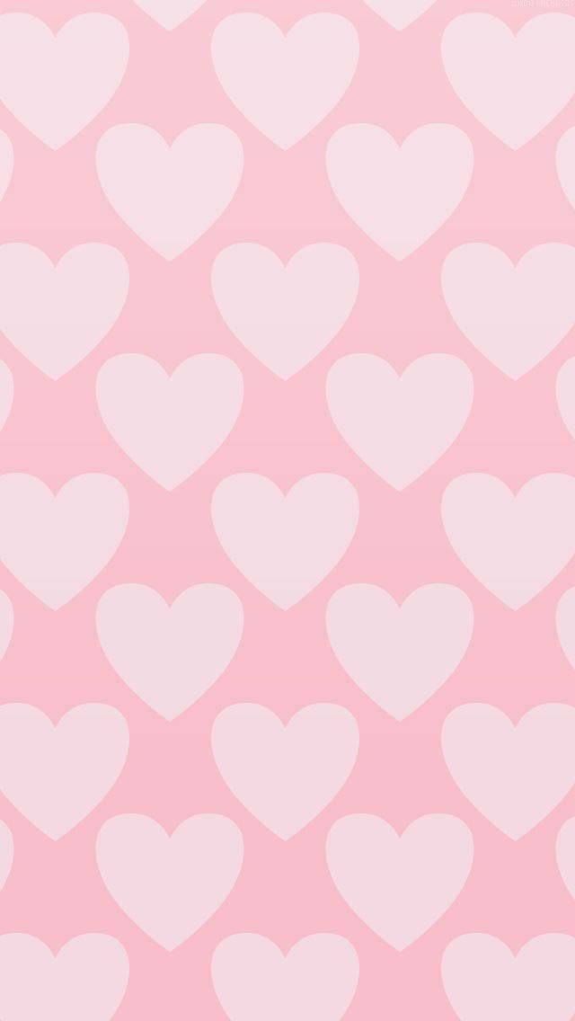 Pink on pink pastel hearts iphone wallpaper phone background lock screen