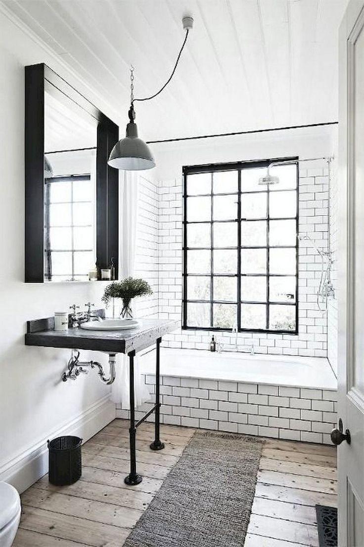 47+ Awesome Farmhouse Bathroom Tile Floor Decor Ideas and