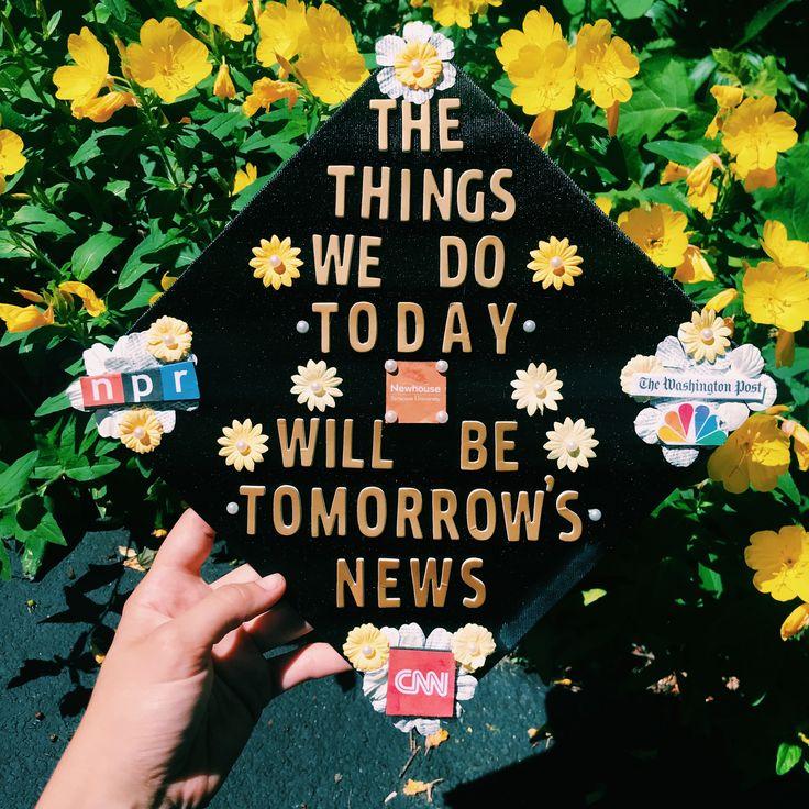 Journalism Graduation cap Newsies graduation cap Graduation cap News graduation cap Broadcasting journalism graduation cap Writing graduation cap Broadway graduation cap