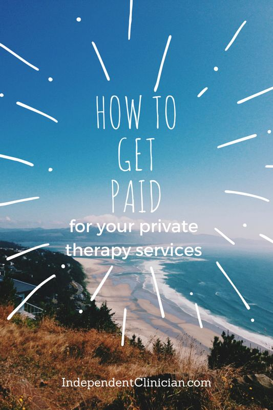 How to get paid for private speech therapy, occupational therapy and physical therapy private therapy services: https://www.independentclinician.com/blog/how-to-get-paid-quickly-and-easily-for-private-therapy-services