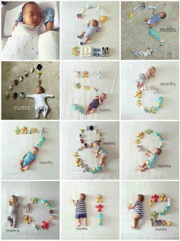 Monthly Baby Photo Ideas – Track Your Baby's Age in Photos  – Jeena