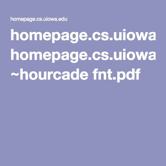 homepage.cs.uiowa.edu ~hourcade fnt.pdf
