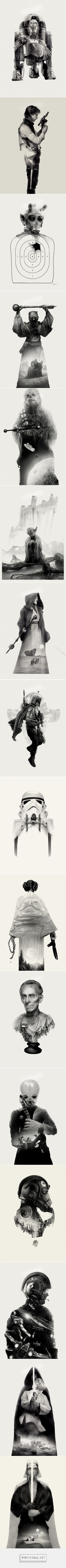 Amazing Star Wars Illustrations by Greg Ruth