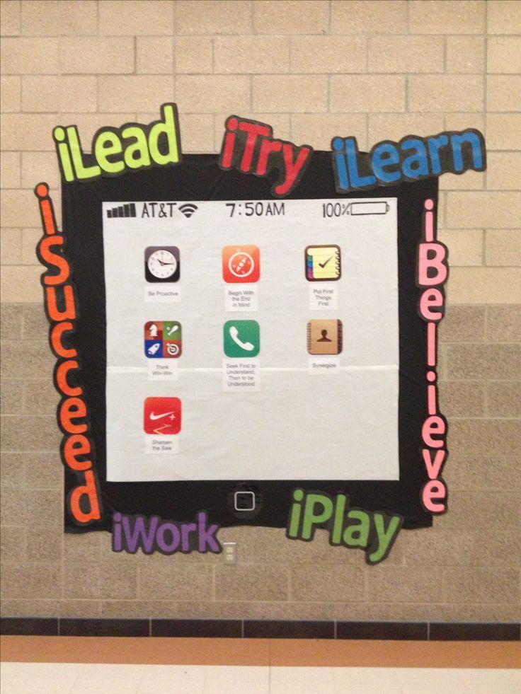 Leader in me iPad 7 habits: I found my BOY bulletin board!  I think...  :)