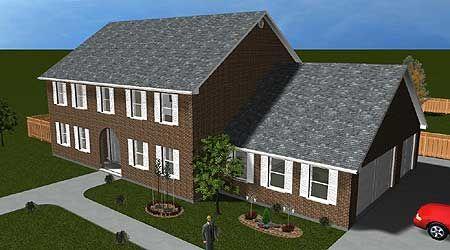Plan 61303UT: Center Hall Colonial