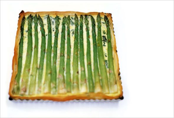 Delicate and lovely. Asparagus Tart