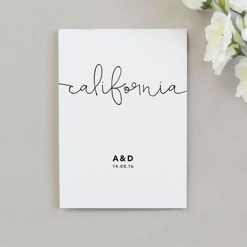 Kate Wedding Table Name Cards
