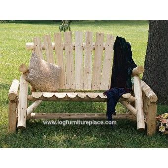 Rustic Cedar Log Glider | Contoured Comfort Log Glider | Outdoor U0026 Patio  Log Furniture