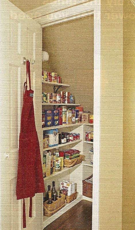 make closet and storage room under stairs into one big pantry~ would be so nice!