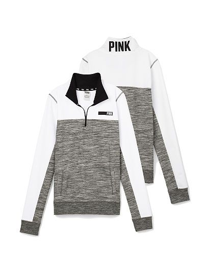 Boyfriend Half-Zip PINK Size: Medium (THIS COLOR)