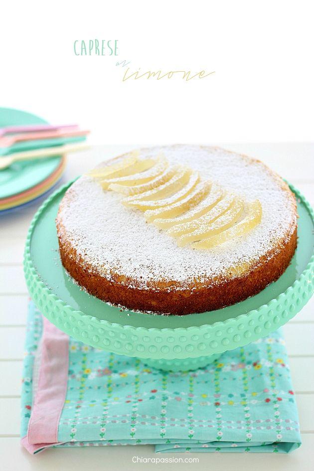 Torta Caprese al limone (senza cioccolato bianco)