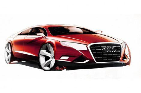 Audi A9 Four Door Luxury Sport Car Sketch Sketch