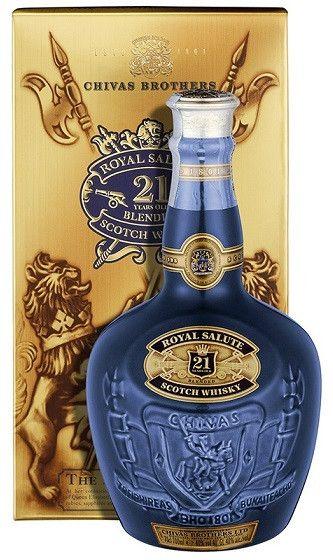 Drinkster - Chivas Regal Royal Salute 21 Year Old Whisky - Sapphire Flagon (750ml, 40.0%)