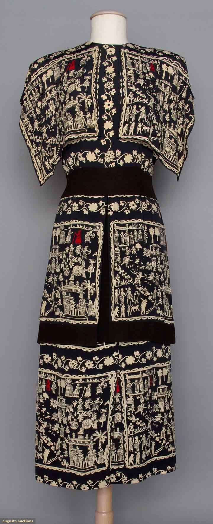 Adrian Silk Print Afternoon Dress, 1940s. This would look amazing on anyone