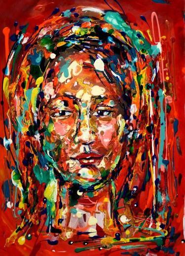 "Saatchi Art Artist Diana Francia Gomez Ordóñez; Painting, ""DE CARA ANTE LA VIDA"" #art"