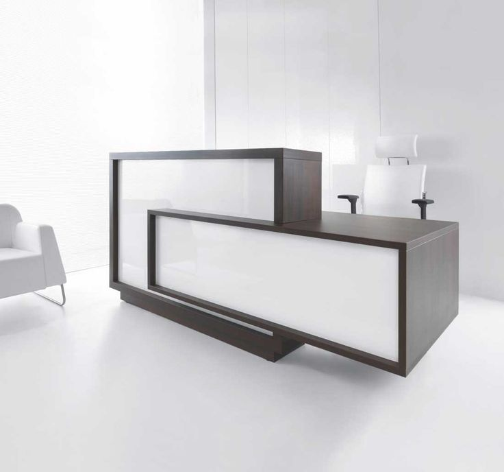 This Phenomenal Reception Desk Captures The Attention Of Guests · Office  Reception DesksModern ...