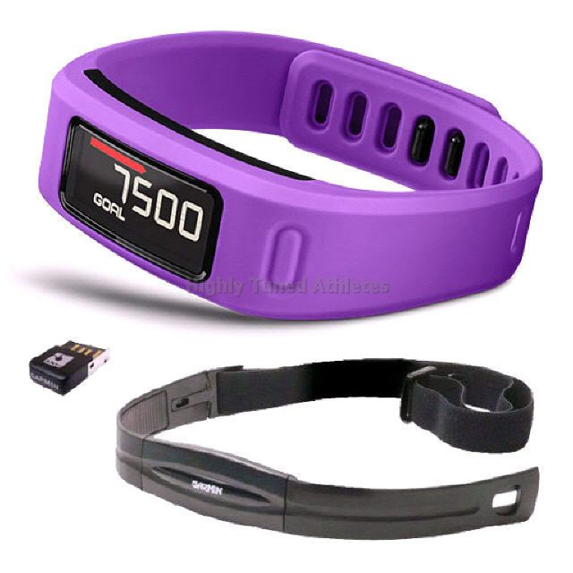 Garmin Vivofit Watch & Activity Tracker HRM Bundle Purple - FREE Postage