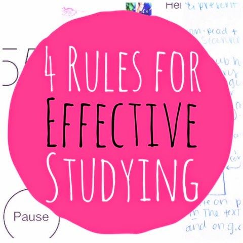 4 Rules for Effective Studying