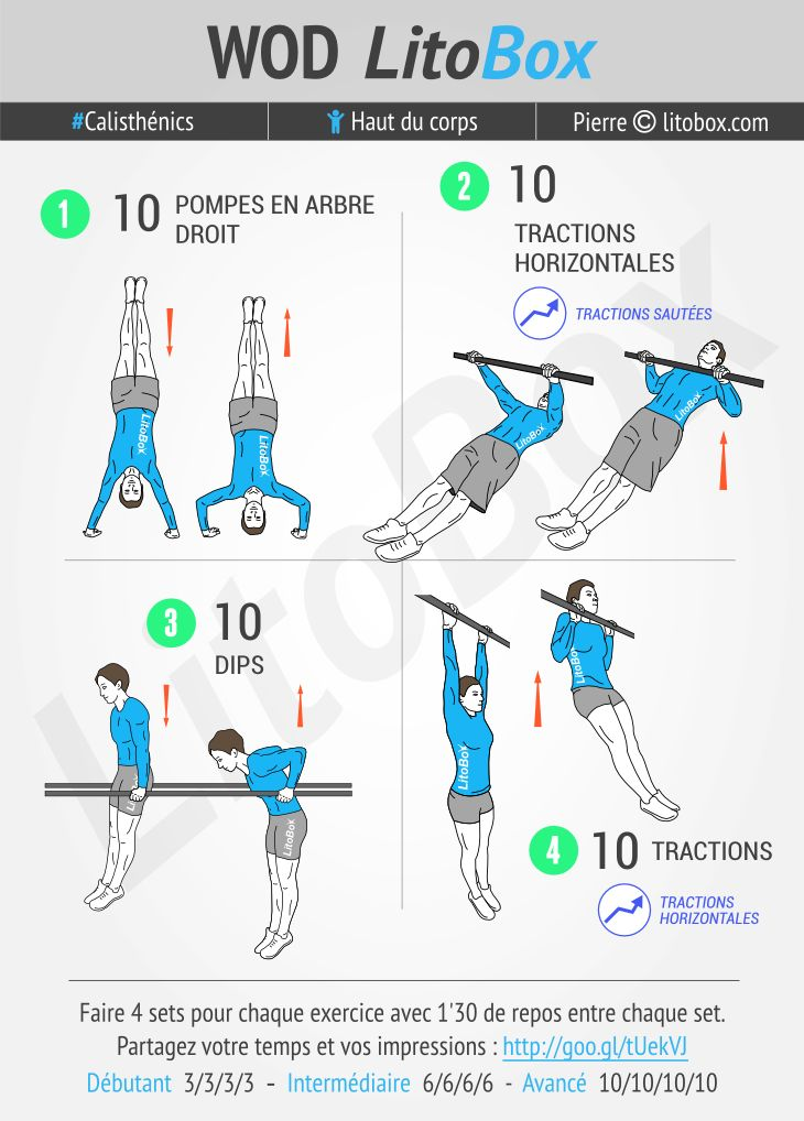 375 best images about programme musculation litobox on pinterest - Programme musculation haut du corps ...