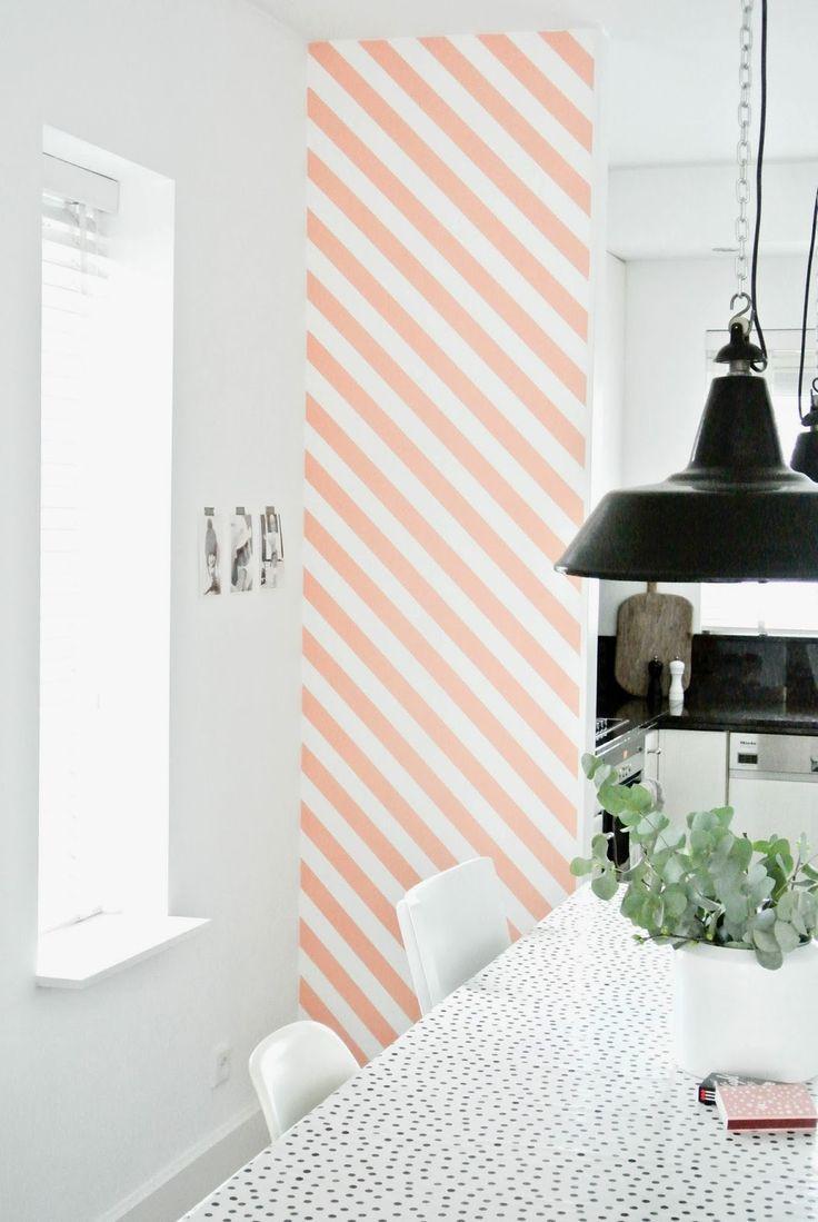 Striped washi wall #wall #stripes #homedecor