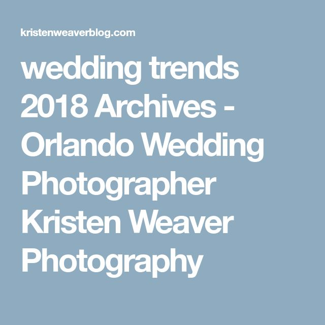 Best 25+ Wedding trends 2018 ideas on Pinterest