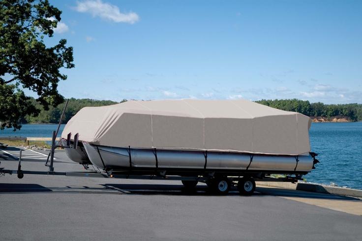 SemiCustom Fit Boat Cover on Pontoon Bentley pontoon