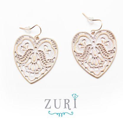 Light Blue Heart Earring R120 #NewInStore #Hearts #Earrings