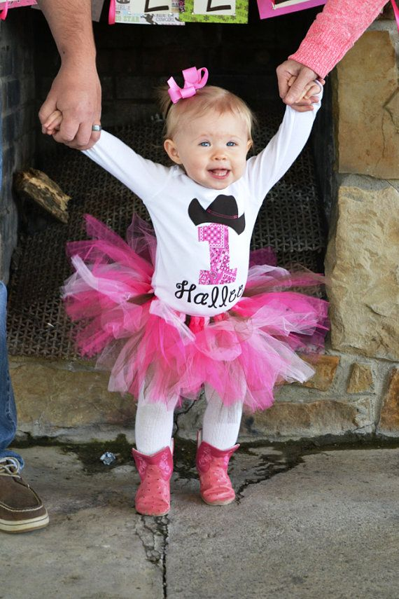 SALE! FAST SHIPPER! New Baby Girl's First Birthday One piece, bodysuit, Shirt, Cowgirl Birthday, 1st Birthday, plus Tutu Skirt