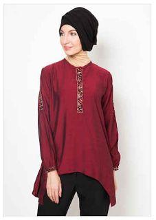 Baju Muslim Terbaru dan Terkini: Trend Model Baju Batik Muslim Atasan Wanita 2016