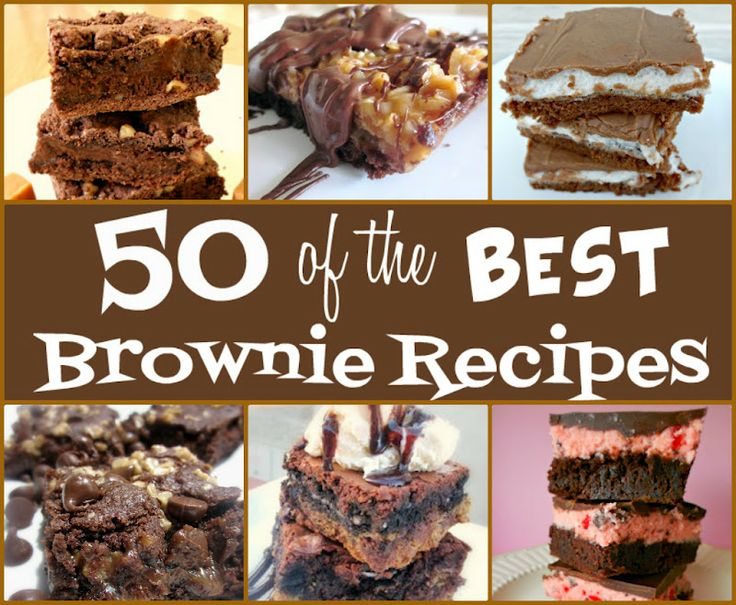 50 of the Best Brownie Recipes from sixsistersstuff.com.  #recipes #brownies