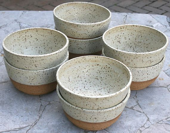 rustic cereal bowl, speckled pottery, breakfast bowl, minimal matte, stoneware bowl, rustic dinnerware, handmade pottery, modern farmhouse These rustic wheel thrown cereal/breakfast bowls are part of my new collection of functional ceramics designed to be sturdy for everyday use