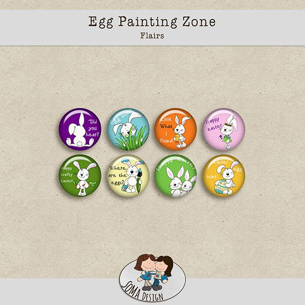 SoMa Design Egg Painting Zone Flairs